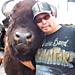Eddie Joe an his buffalo friend